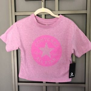 NWT Converse cropped tee pink size small
